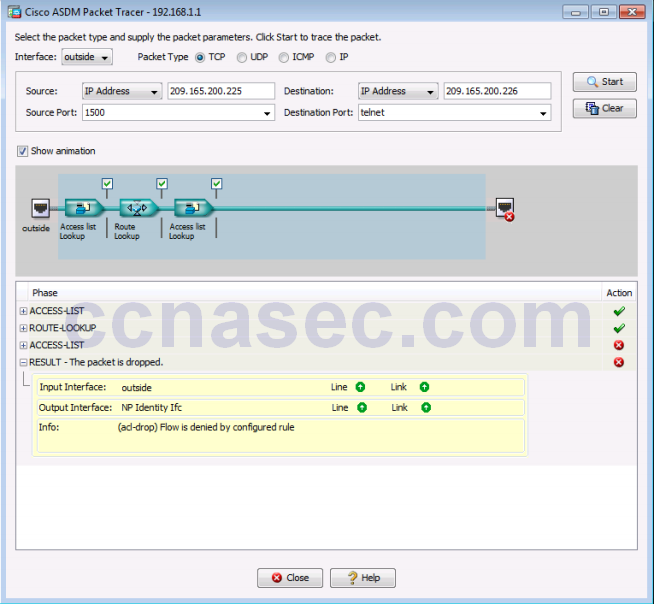 10 1 4 8 Lab A - Configure ASA Basic Settings and Firewall using